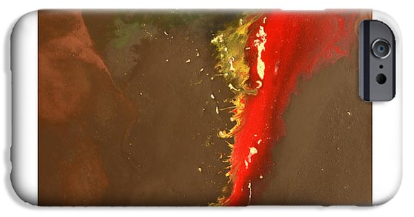 Abstract Digital Paintings iPhone Cases - Clean Cut iPhone Case by Craig Tinder