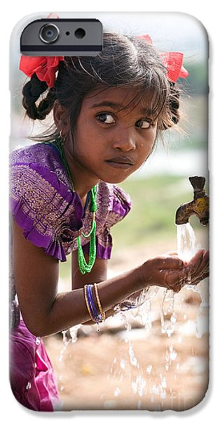 India iPhone Cases - Clean Drinking Water iPhone Case by Tim Gainey