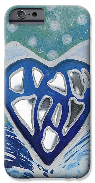 Ocean Reliefs iPhone Cases - CLEANSED HEART Best Reflections Energy Collection iPhone Case by Catt Kyriacou