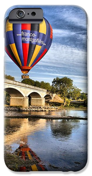 Hot Air Balloon iPhone Cases - Clear and away iPhone Case by Mick Flynn
