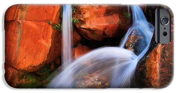 Grand Canyon iPhone Cases - Clear Creek Falls iPhone Case by Inge Johnsson