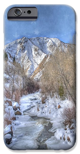 Clear iPhone Cases - Clear Creek in the Winter iPhone Case by Juli Scalzi