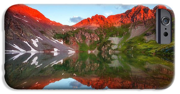 Clear iPhone Cases - Clear Lake Alpenglow iPhone Case by Darren  White