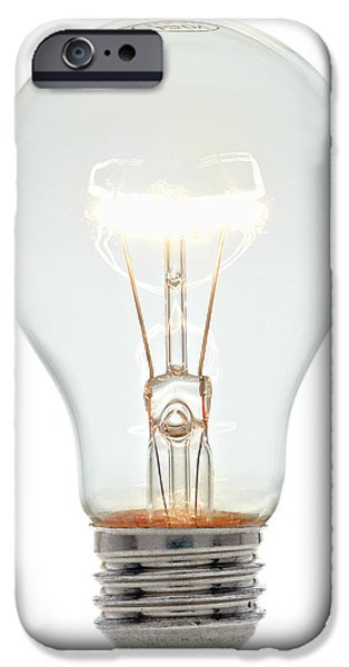 Bulb iPhone Cases - Clear Light Bulb iPhone Case by Olivier Le Queinec