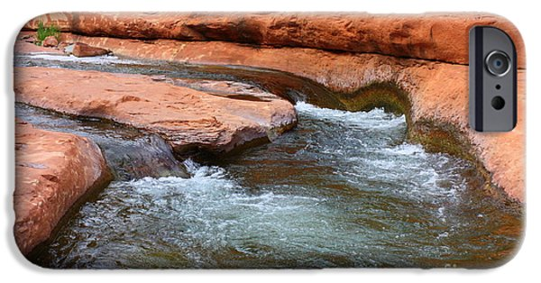 Oak Creek iPhone Cases - Clear Water at Slide Rock iPhone Case by Carol Groenen