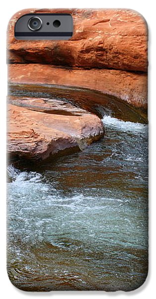 Clear Water at Slide Rock iPhone Case by Carol Groenen