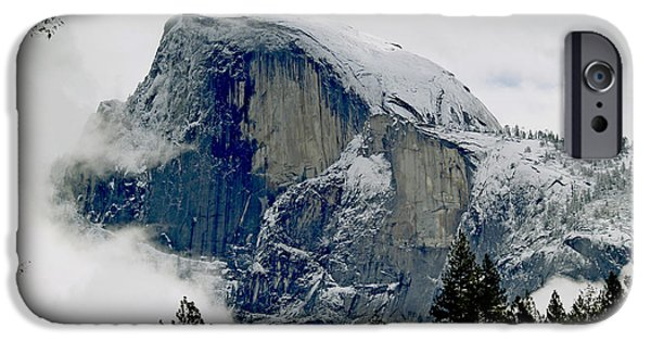 Bill Gallagher iPhone Cases - Clearing Storm Around Half Dome iPhone Case by Bill Gallagher
