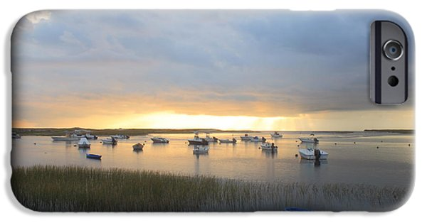 Massachusetts Coast iPhone Cases - Clearing Storm Pamet Harbor Cape Cod iPhone Case by John Burk