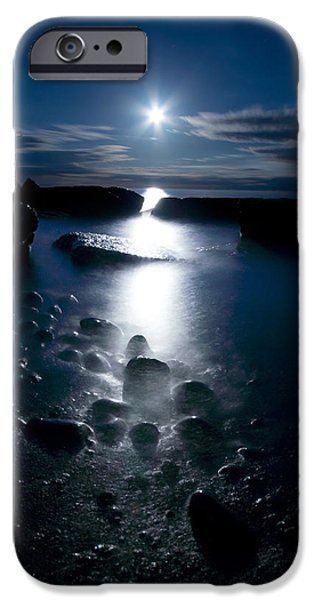 Clearville iPhone Cases - Clearville Moonrise iPhone Case by Cale Best