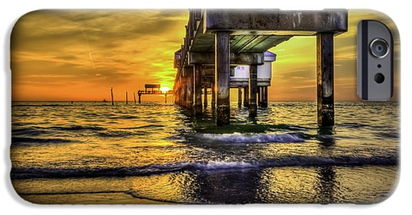 Clearwater iPhone Cases - Clearwater Pier iPhone Case by Marvin Spates