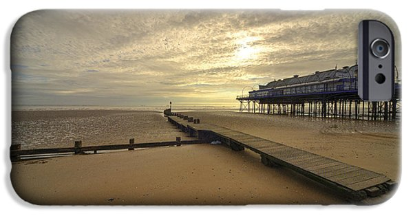 North Sea iPhone Cases - Cleethorpes Pier  iPhone Case by Rob Hawkins