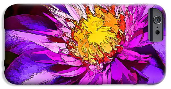 Floral Digital Art Digital Art iPhone Cases - Clematis Flower in Blue iPhone Case by Bill Caldwell -        ABeautifulSky Photography