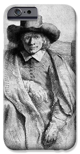 Rembrandt Drawings iPhone Cases - Clement De Jonghe iPhone Case by Rembrandt Van Rijn