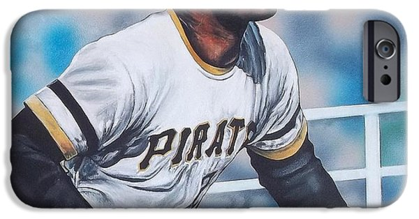 Roberto Paintings iPhone Cases - Clemente iPhone Case by D A Nuhfer