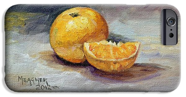 Tangerine Paintings iPhone Cases - Cuties iPhone Case by Spencer Meagher