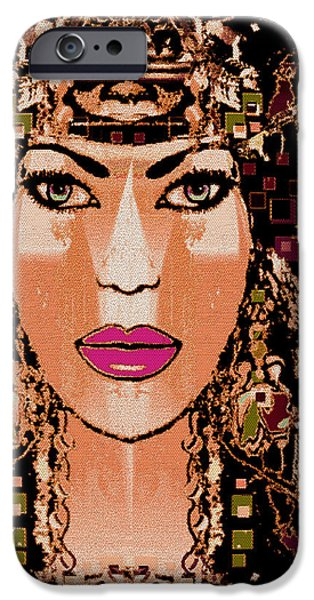 Cleopatra iPhone Case by Natalie Holland