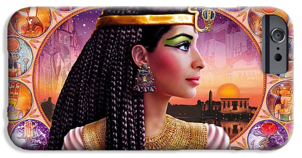 Cleopatra iPhone Cases - Cleopatra Variant 3 iPhone Case by Andrew Farley