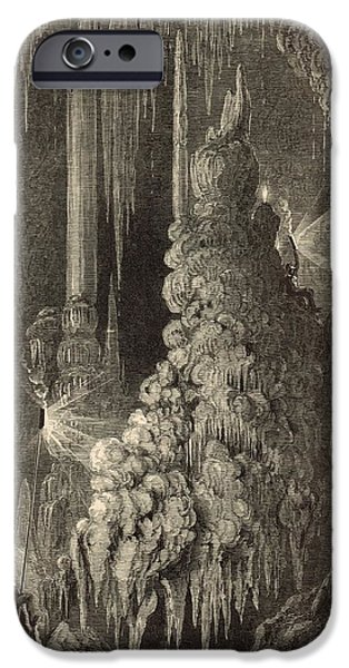 Appleton Art iPhone Cases - Cleopatras Needle and Anthonys Pillar 1872 Engraving iPhone Case by Antique Engravings