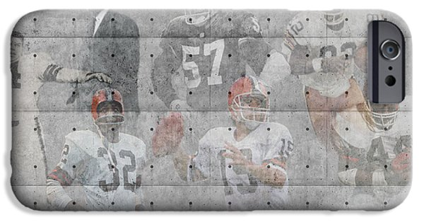 Santa iPhone Cases - Cleveland Browns Legends iPhone Case by Joe Hamilton