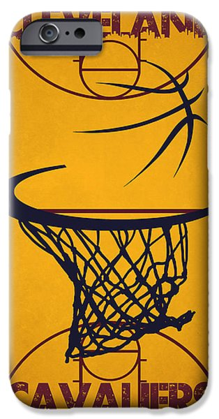 Dunk iPhone Cases - Cleveland Cavaliers Court iPhone Case by Joe Hamilton