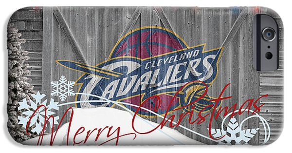 Basket iPhone Cases - Cleveland Cavaliers iPhone Case by Joe Hamilton