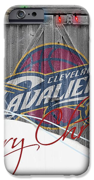 CLEVELAND CAVALIERS iPhone Case by Joe Hamilton