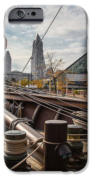 Cleveland From The Deck Of The Peacemaker iPhone Case by Dale Kincaid