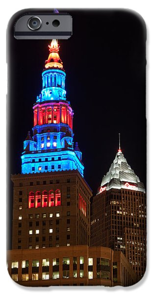 Cleveland iPhone Cases - Cleveland Towers iPhone Case by Dale Kincaid