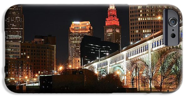 River View iPhone Cases - Cleveland Up Close iPhone Case by Frozen in Time Fine Art Photography