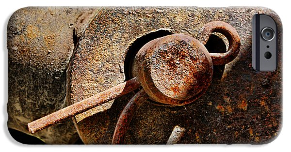 Rust iPhone Cases - Clevis and Cotter iPhone Case by Nikolyn McDonald