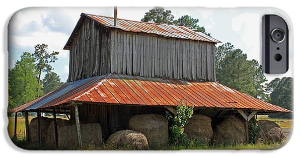 Old Barn Poster Photographs iPhone Cases - Clewis Family Tobacco Barn iPhone Case by Suzanne Gaff