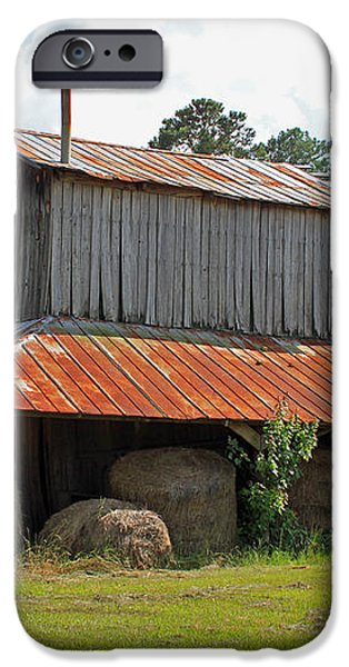 Clewis Family Tobacco Barn iPhone Case by Suzanne Gaff