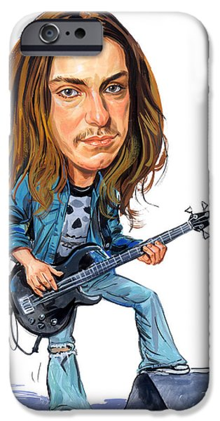 Cliffs iPhone Cases - Cliff Burton iPhone Case by Art
