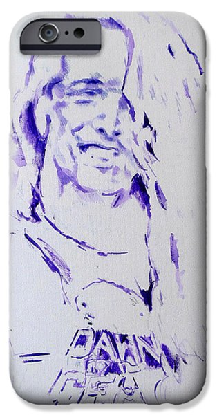 Metallica Paintings iPhone Cases - Cliff Burton Metallica iPhone Case by Lucia Hoogervorst