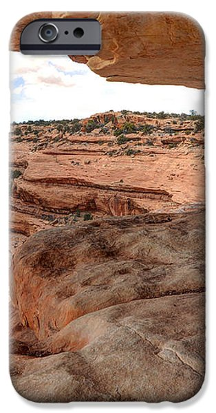 Cliff Overhang in Southwest Sandstone Canyon - Utah iPhone Case by Gary Whitton