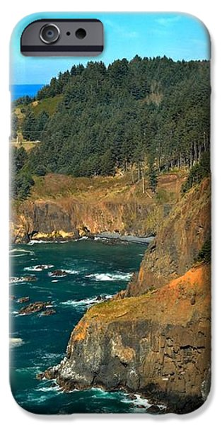 Cliffs At Cape Foulweather iPhone Case by Adam Jewell
