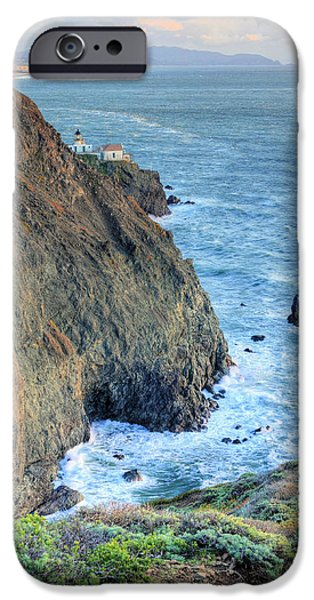 Sausalito iPhone Cases - Cliffs iPhone Case by JC Findley