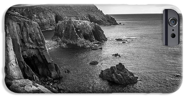 Winter Storm iPhone Cases - Cliffs Lands End iPhone Case by Steve Young
