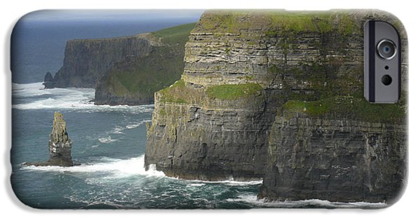 Ledge iPhone Cases - Cliffs of Moher 2 iPhone Case by Mike McGlothlen