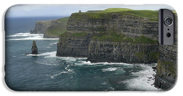 Ledge iPhone Cases - Cliffs of Moher 3 iPhone Case by Mike McGlothlen