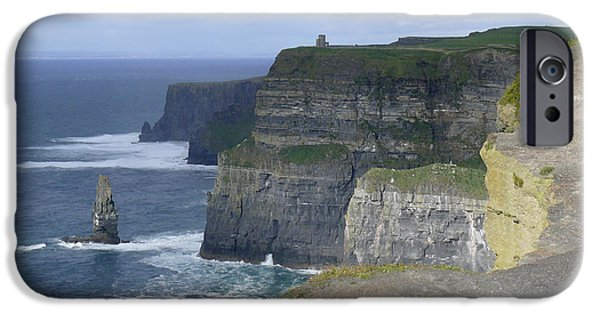 Ledge iPhone Cases - Cliffs of Moher 4 iPhone Case by Mike McGlothlen