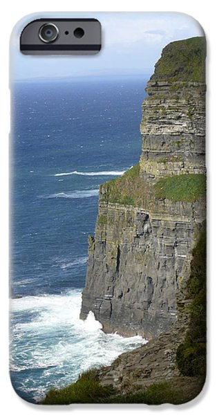 Ledge iPhone Cases - Cliffs of Moher 7 iPhone Case by Mike McGlothlen