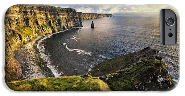 Prince Harry iPhone Cases - Cliffs of Moher iPhone Case by Jan Sieminski
