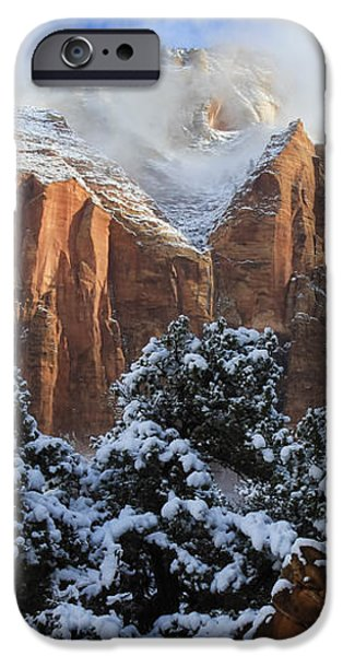 Cliffs of Zion iPhone Case by Laura Zirino