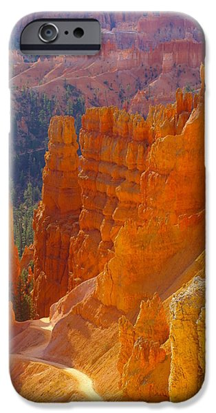 Sweeps iPhone Cases - climbing out of the Canyon iPhone Case by Jeff  Swan