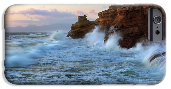 Cliff iPhone Cases - Climbing the Cliffs iPhone Case by Mike Dawson