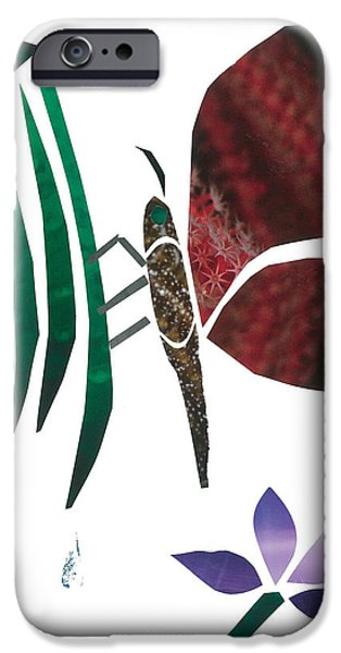 Invertebrates Mixed Media iPhone Cases - Clinging Butterfly iPhone Case by Earl ContehMorgan