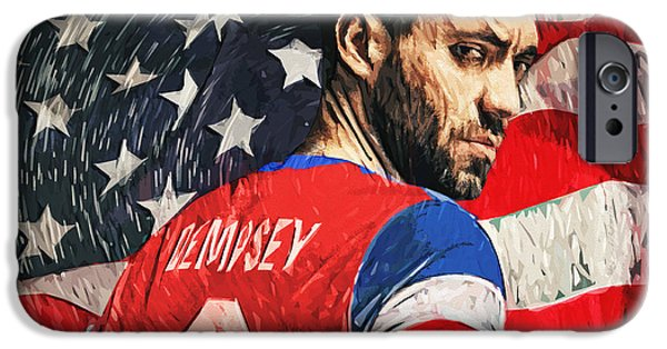 Recently Sold -  - American Revolution iPhone Cases - Clint Dempsey iPhone Case by Taylan Soyturk