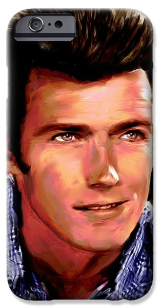 Clint Eastwood iPhone Case by Allen Glass