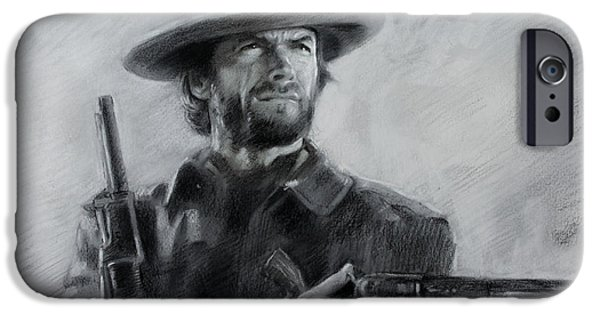 Best Sellers -  - Politician iPhone Cases - Clint Eastwood iPhone Case by Viola El